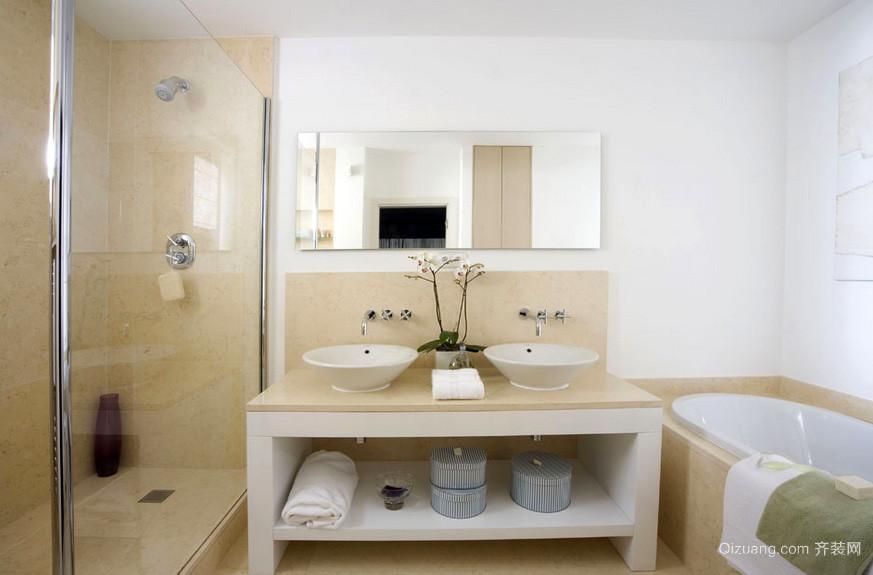 三居室唯美型浴室装修效果图