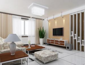 精致的大户型欧式客厅电视背景墙装修效果图