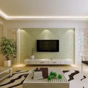 现代大户型欧式硅藻泥背景墙装修效果图