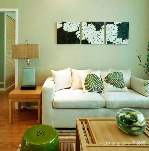 90平米小户型都市简约风格客厅照片墙装饰