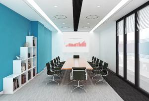 大型会议室效果图现代精装欧式风格效果