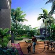 清新型庭院装修图片