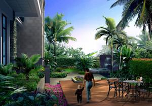 别墅精心打造庭院设计效果图