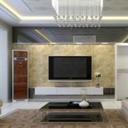 现代精致的大户型客厅吊顶装修效果图实例