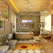 美式风格样板房卫生间装修效果图