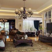 欧式经典风格客厅灯饰装饰