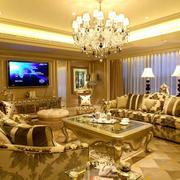 欧式客厅奢华大气沙发装饰