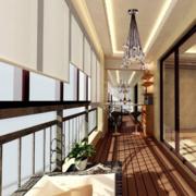 大户型欧式现代阳台装修效果图实例欣赏