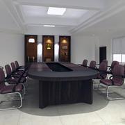 现代简约大会议室效果图实例参考