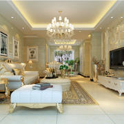 欧式时尚130平米家居客厅装修效果图