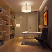 现代大户型书房书柜装修效果图实例欣赏