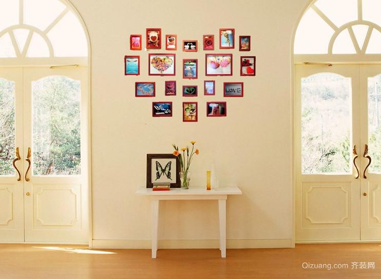 唯美大户型欧式客厅照片墙装修效果图鉴赏