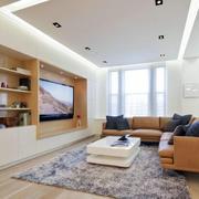现代简约公寓客厅电视背景墙效果图