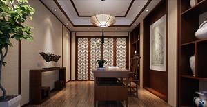 现代中式小户型老人书房装修效果图