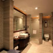 现代大户型欧式卫生间设计装修效果图