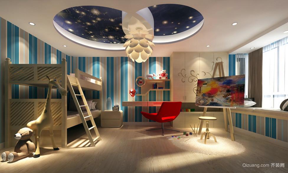大户型复式楼摩登儿童房装修设计效果图