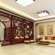 现代大户型中式客厅装修效果图实例鉴赏