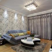 自然风格墙纸装修设计