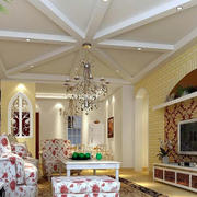 欧式风格客厅拱形门装饰