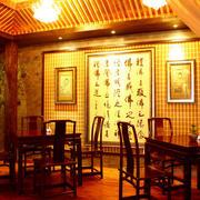 中式风格原木暖色系茶楼会所装修效果图
