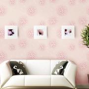粉色调墙纸装修设计