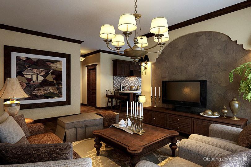 创意美式风格样板房装修效果图