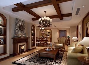 美式温婉100平米客厅装修效果图