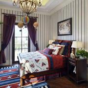 别墅美式混搭风格卧室样板间装修效果图