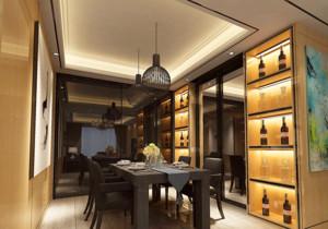 现代欧式大户型餐厅背景墙装修效果图