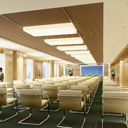 40平米都市风格经理级别大会议室装修图