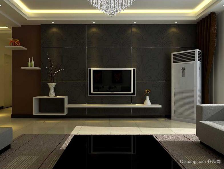 现代大户型欧式客厅背景墙设计装修效果图