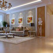 复式楼法式风格精致客厅沙发装修效果图