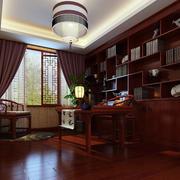大户型三居室中式书房装修效果图