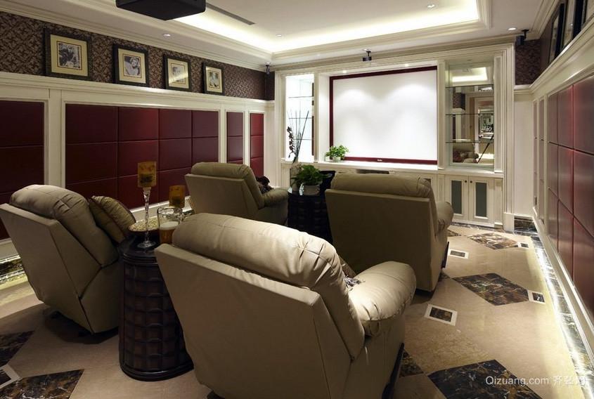 美式风格深色调样板房装修效果图