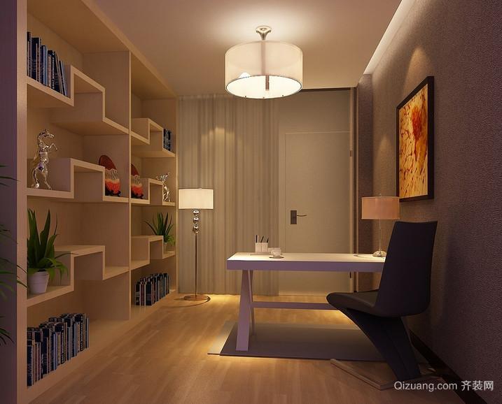 唯美的现代大户型精致小书房装修效果图