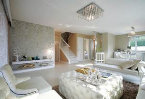 白色北欧大户型新房装修设计效果图