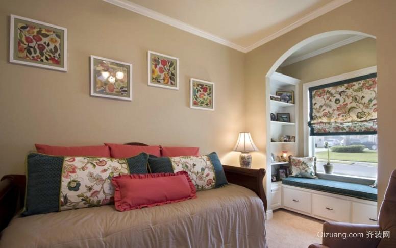 2015美式风格样板房卧室装修效果图