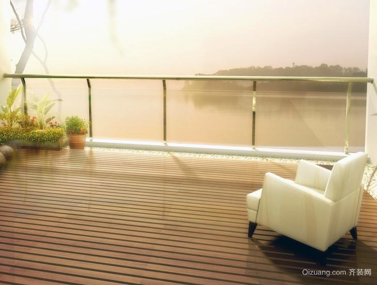 都市时尚的别墅型阳台装修效果图实例