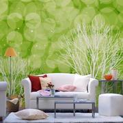 复式楼简约风格清新客厅沙发背景墙装饰
