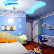 三居室清爽系列儿童房设计装修效果图
