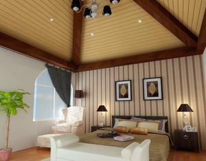 美式简约风格生态木吊顶装修效果图