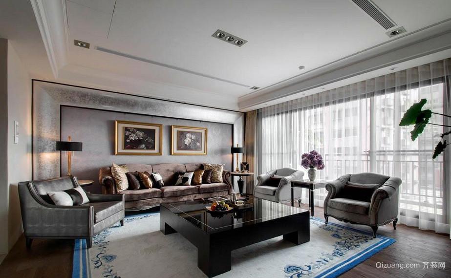 新古典大户型客厅吊顶装修设计效果图