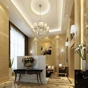 欧式奢华圆形客厅吊顶装饰