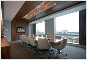 20平米后现代风格简约办公室装修效果图 齐装网装修效果图
