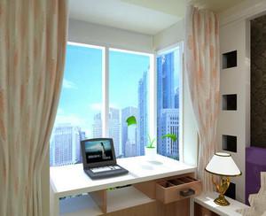 两室一厅现代简约风格小书房飘窗装修效果图