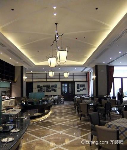 大型后现代风格奢华大气饭店过道吊顶装修图
