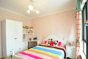 可爱粉色简约小儿童房装修设计效果图