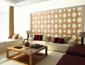 日式清新简约风格客厅液体墙纸装修效果图