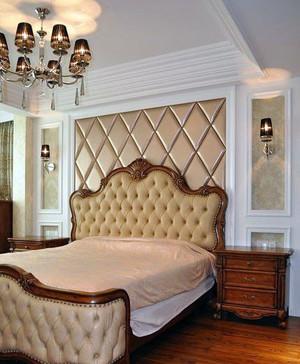 50平米奢华欧式卧室软包背景墙装修效果图