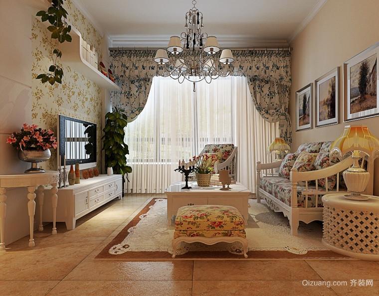 唯美小户型欧式客厅装修效果图鉴赏